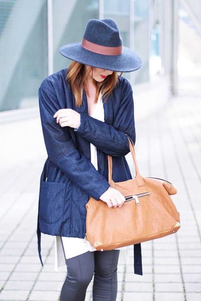 chaquetas vaqueras preciosas largas bolsa marron ideas