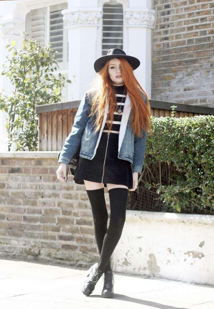 chaqueta vaquera preciosas vestido negro ideas