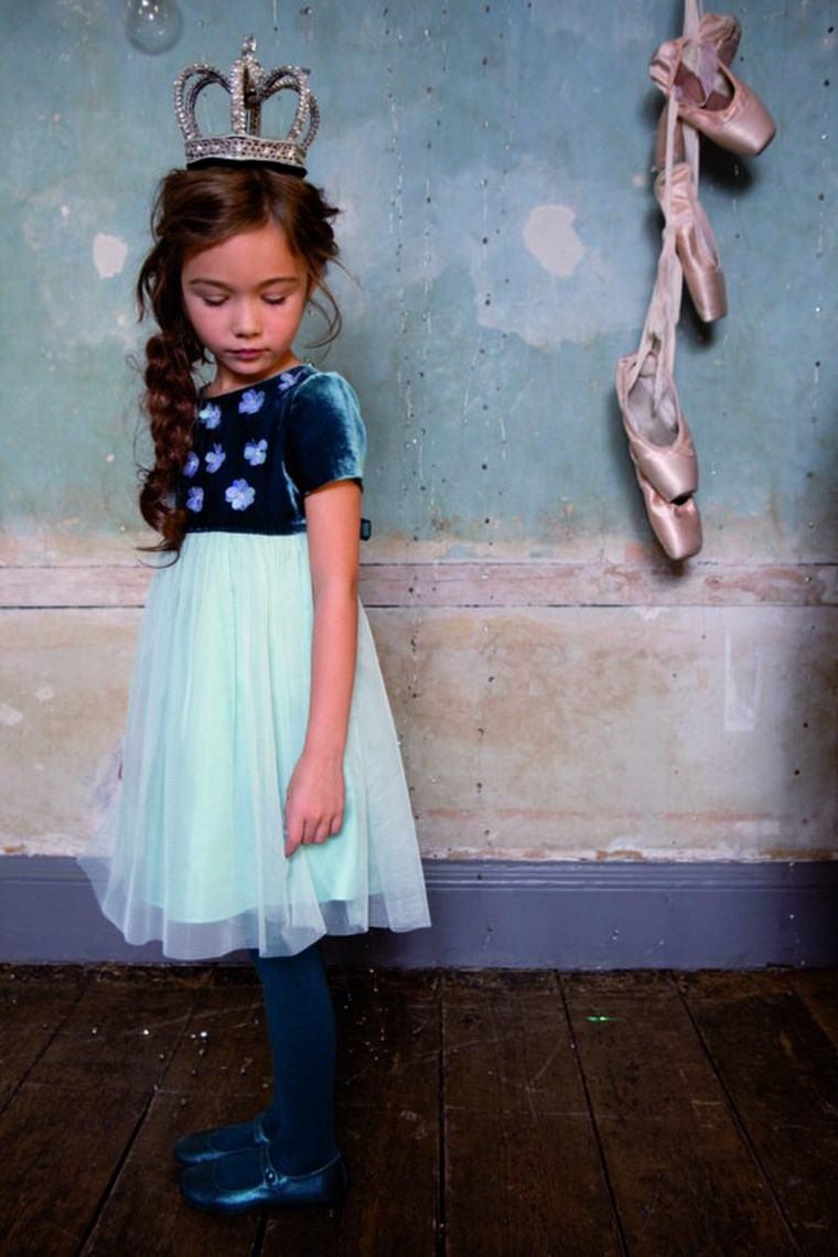 chicas vestido azul original colores ideas