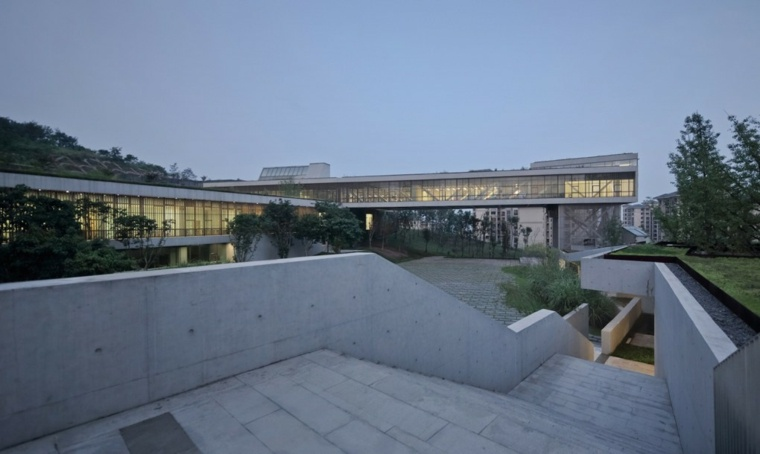 china casa verde moderna arquitectura
