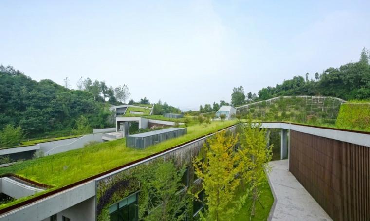 china casa verde moderna