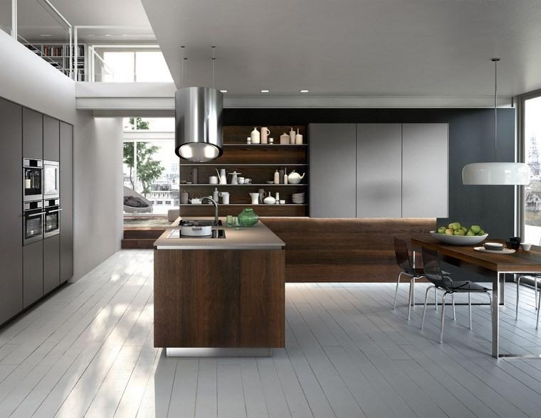 Cocina cuadrada con forma de u o l m s de 50 ideas para - Cocinas comedor modernas ...