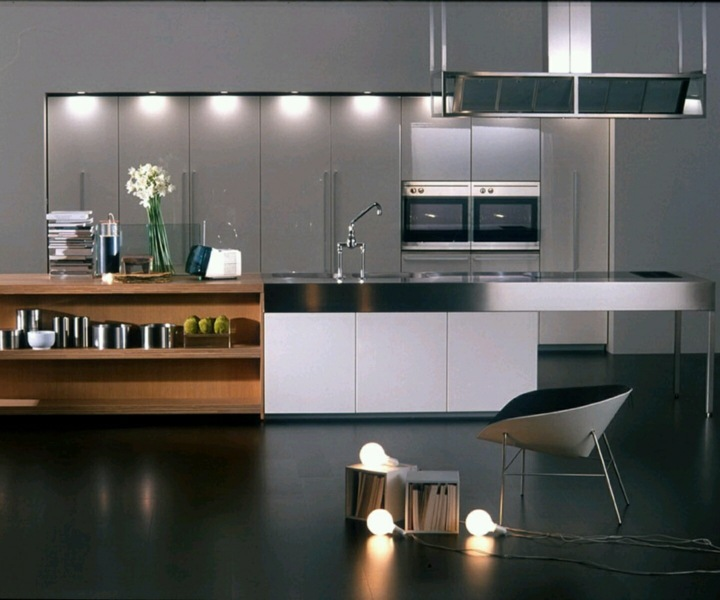 cocina decoracion moderna tendencias volumen flores