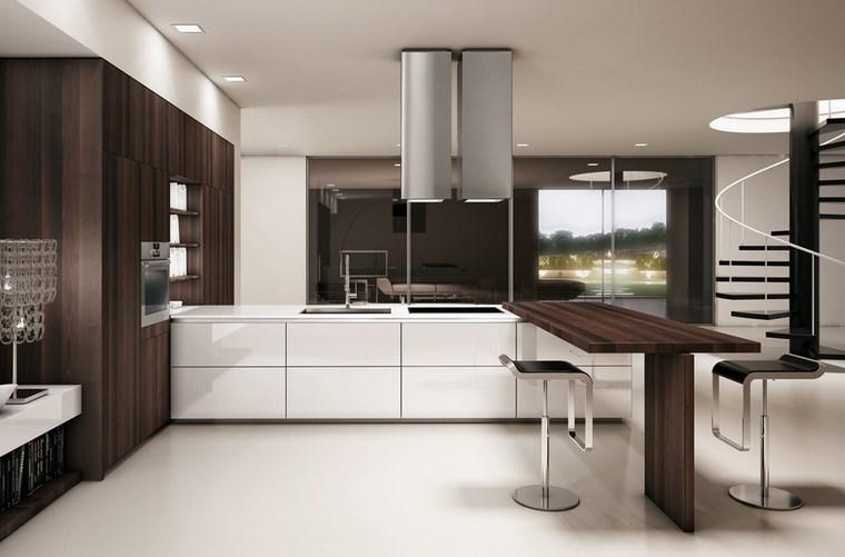 Cocina cuadrada con forma de u o l m s de 50 ideas para - Cocina en forma de u ...
