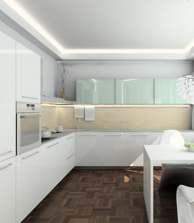 Interiores minimalistas 85 habitaciones en blanco y negro for Cocinas blancas pequenas
