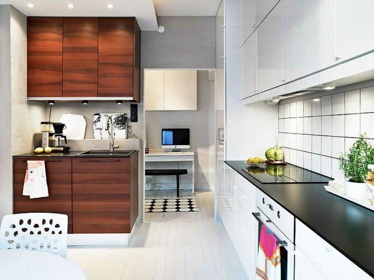 Dise os cocinas peque as modernas cincuenta modelos - Cocinas funcionales y modernas ...