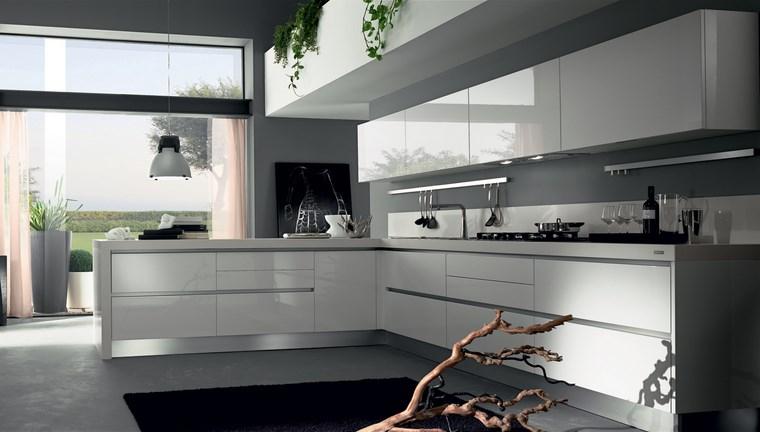 Cocina cuadrada con forma de u o l m s de 50 ideas para - Cocinas modernas en l ...