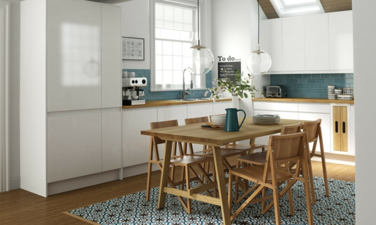 Dise os cocinas peque as modernas cincuenta modelos - Cocinas con parquet ...