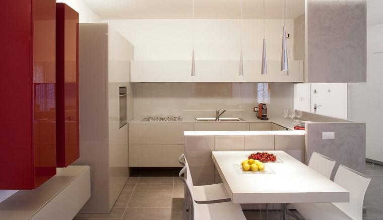 Cocina cuadrada con forma de u o l m s de 50 ideas para for Cocinas pequenas modernas 2016