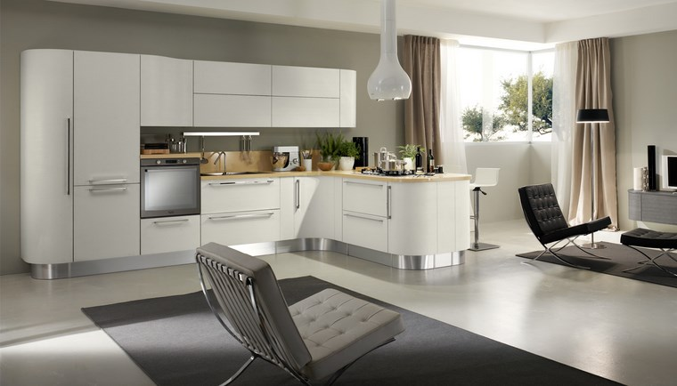 Cocina cuadrada con forma de u o l m s de 50 ideas para - Cocina moderna pequena ...