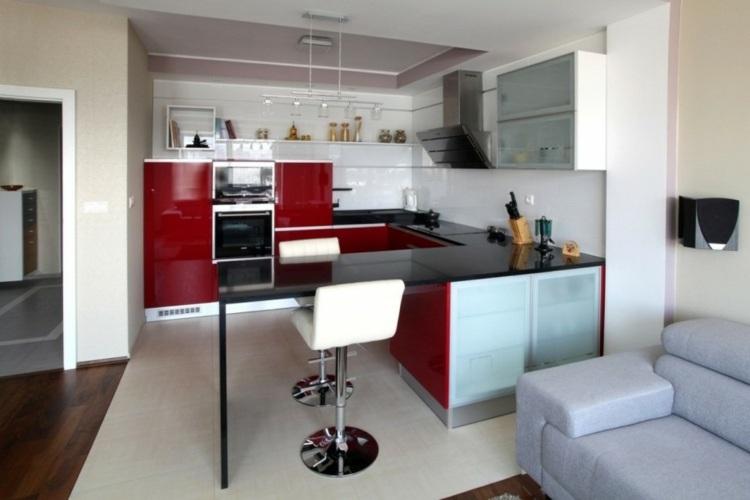 cocina pequea muebles lacados