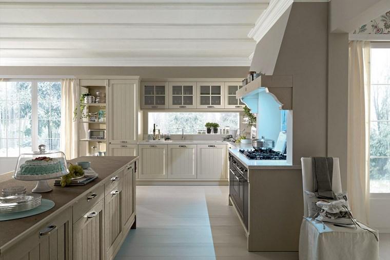 Cocina cuadrada con forma de u o l m s de 50 ideas para for Muebles diseno vintage