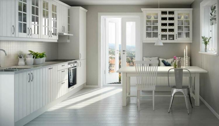 cocina moderna muebles blancos