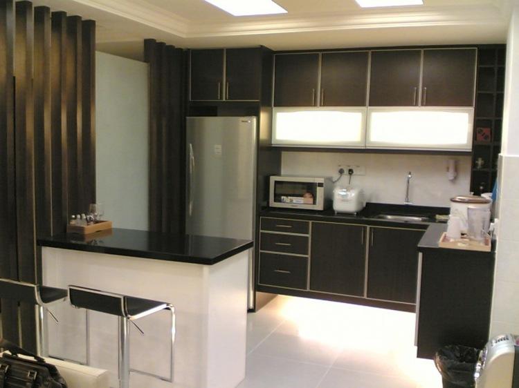 Dise os cocinas peque as modernas cincuenta modelos for Gabinetes de cocina modernos 2016