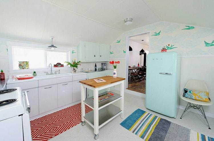 cocina pequeña diseño estilo vintage
