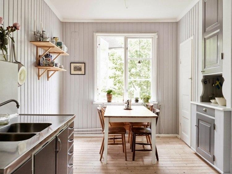 cocina pequeña comedor estilo vintage