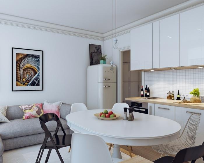 Cocinas blancas peque as muestras de luminosidad y estilo - Decoracion cocinas blancas ...