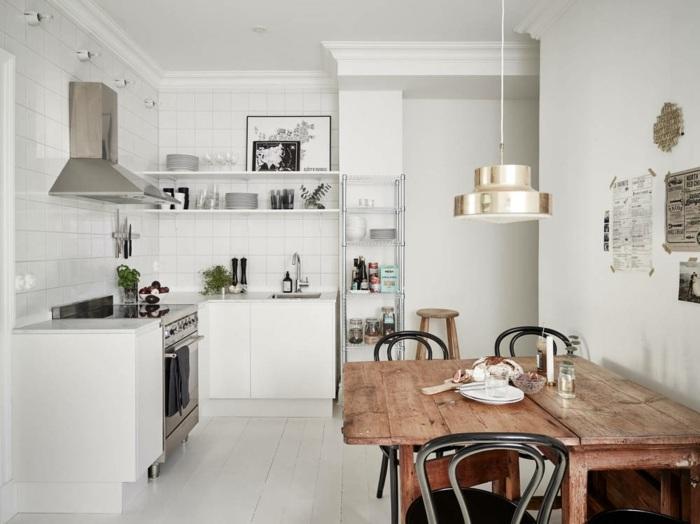 Cocinas Blancas Pequenas Muestras De Luminosidad Y Estilo