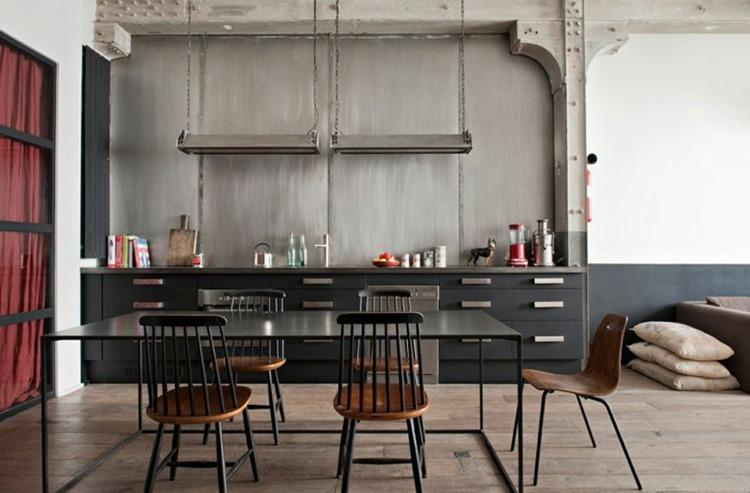 cocina diseño estilo industrial