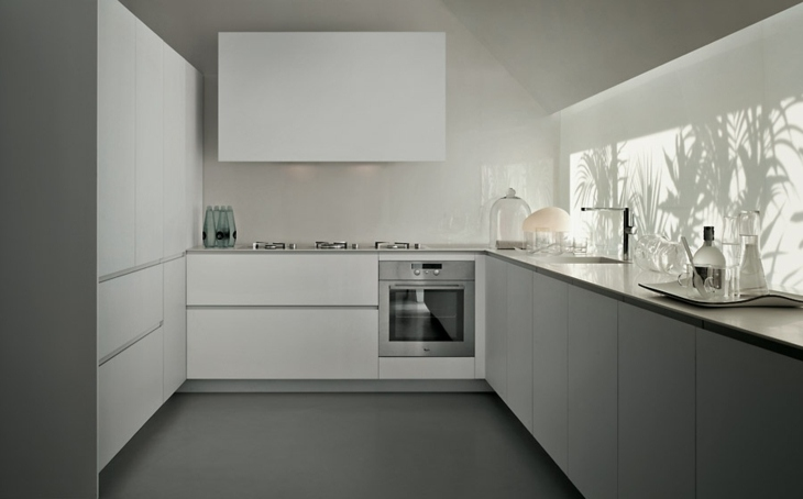 cocinas modernas distribucion estantes salones combras funcional