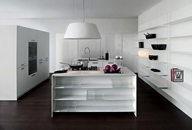 cocinas modernas distribucion luminosas blancas negro