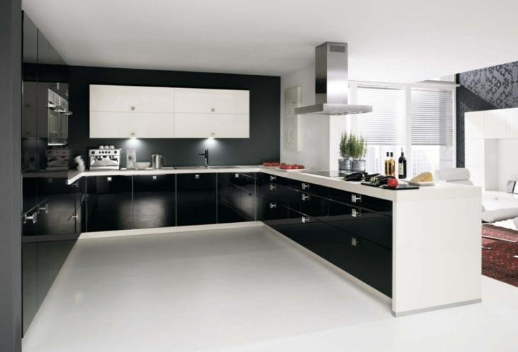 cocinas modernas distribucion metales detalles negro