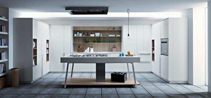cocinas modernas distribucion suelo gris abierta