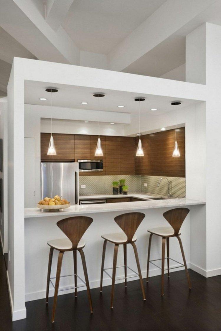 Dise os cocinas peque as modernas cincuenta modelos for Comedor moderno pequea o