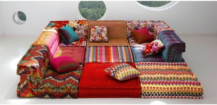 coloridos salones detalles mesas patrones