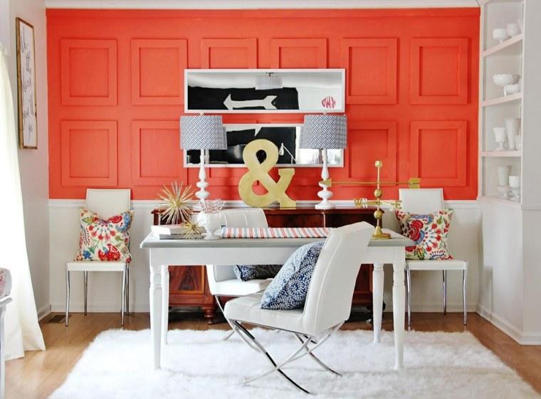 comedor precioso muchos detalles pared roja ideas