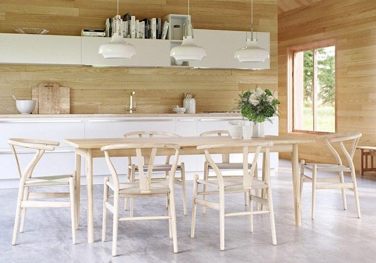 comedores combinacion disenos madera natural ideas