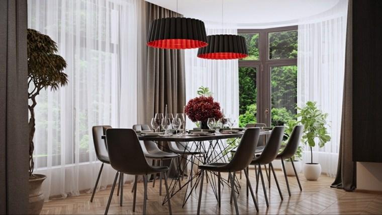 comedores combinacion disenos muebles lamparas ideas