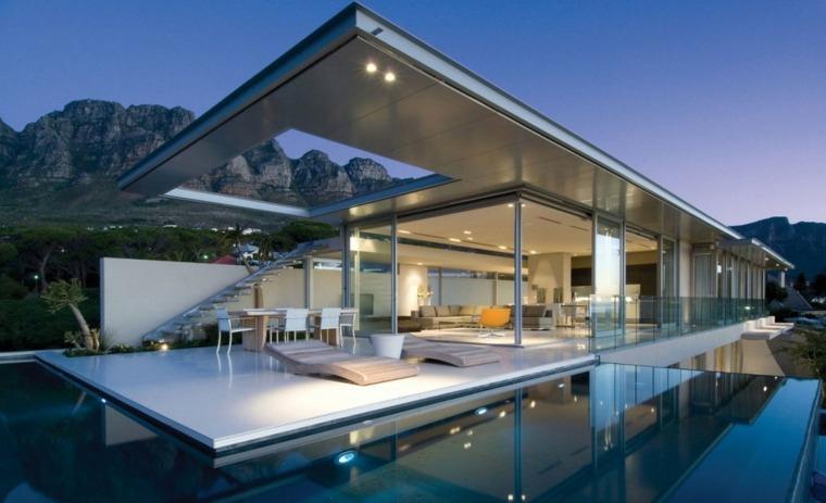 comida cena exterior muebles casa moderna ideas