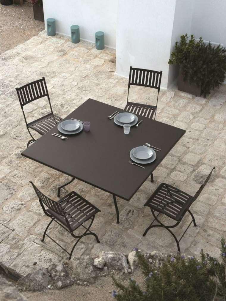 comida cena exterior muebles diseno simple negro ideas