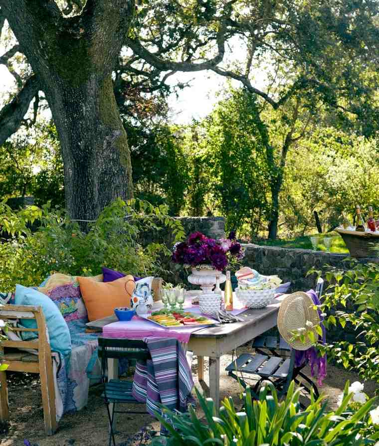 Colorful Outdoor Deck Decorating Ideas: Comida O Cena Al Aire Libre 100 Ideas Para Tu Jardín