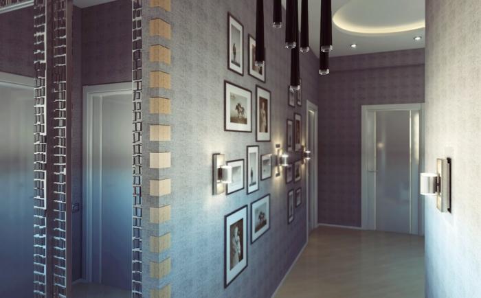 Como decorar pasillos 50 ideas geniales para el hogar - Cuadros para recibidores ...