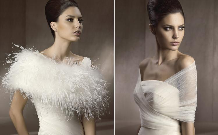 complementos vestidos novia invierno deco