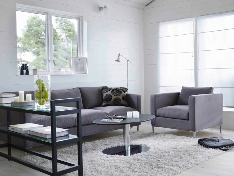 conjunto sofás color gris acero