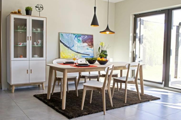 conjunto muebles diseño nórdico
