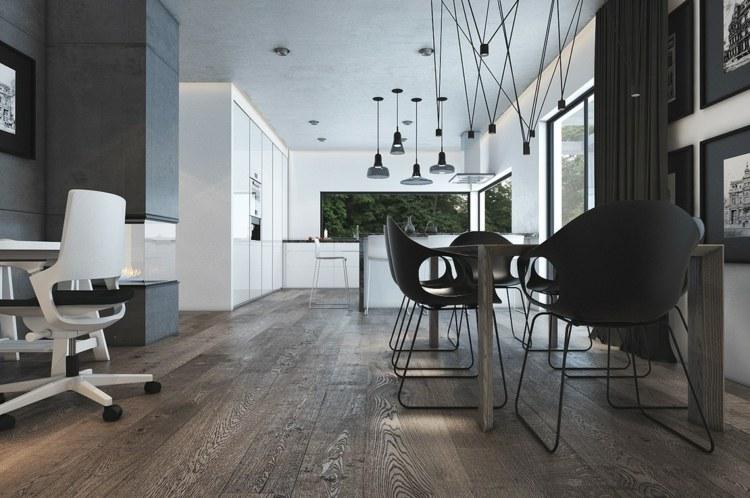 contemporaneo madera sofas conceptos puertas blancos