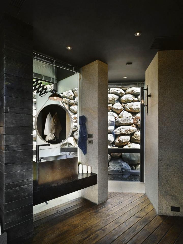 corbatas estilos espejos paredes baños