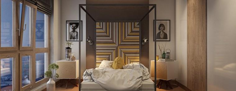cuadros-decorativos-pared-dormitorio-moderno-cama-dosel-respaldo