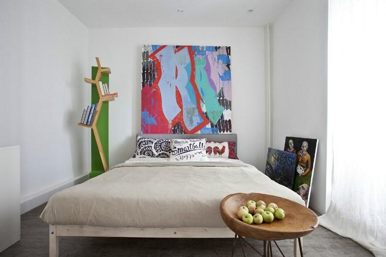 cuadros decorativos pared dormitorio moderno diseno simple ideas