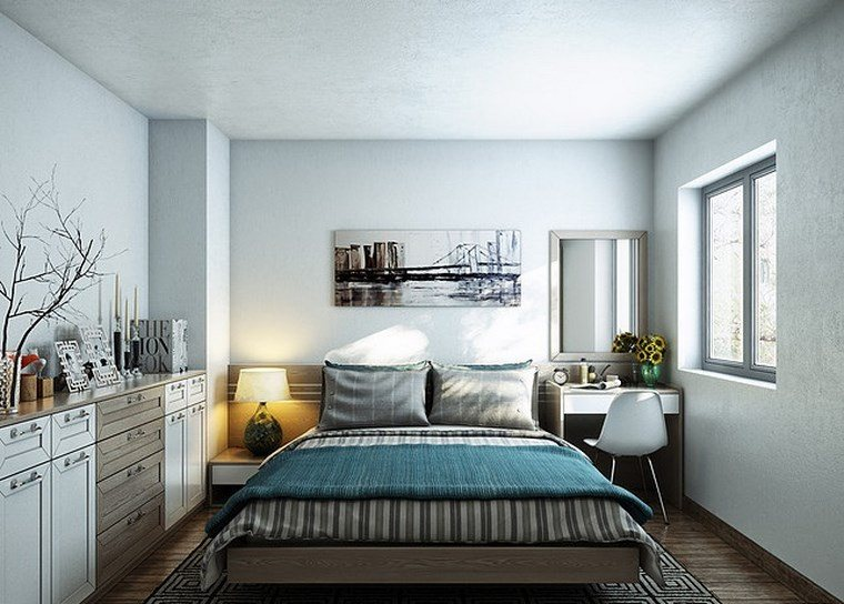 cuadros decorativos pared dormitorio moderno escritorio ideas