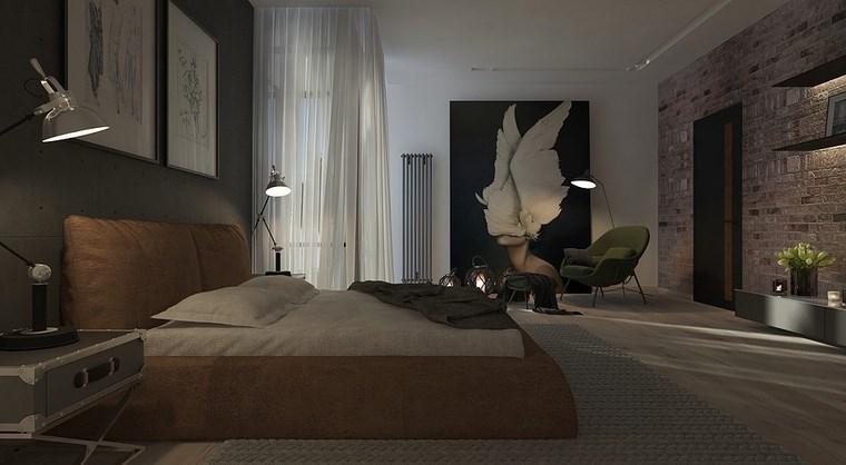cuadros-decorativos-pared-dormitorio-moderno-ladrillo-natural