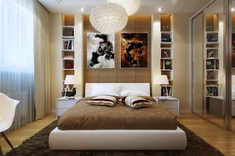 cuadros decorativos pared dormitorio moderno libros ideas
