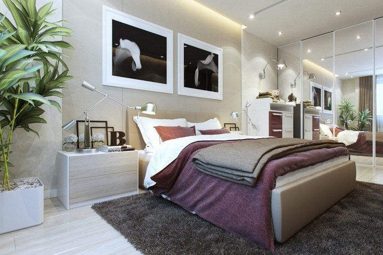 cuadros pared dormitorio moderno luminoso ideas