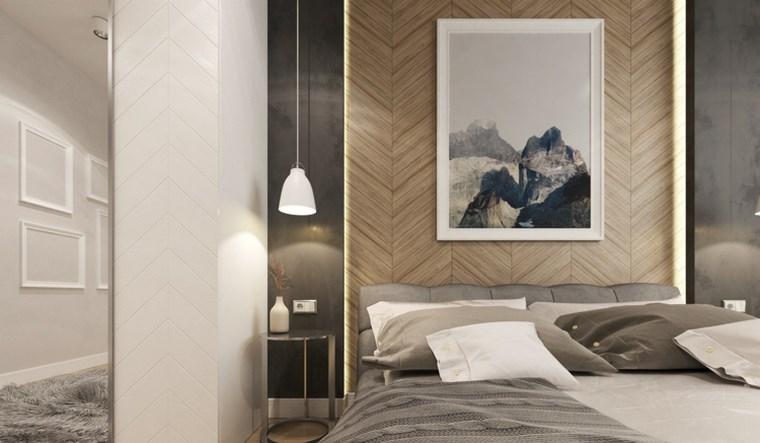 cuadros pared dormitorio moderno natural ideas