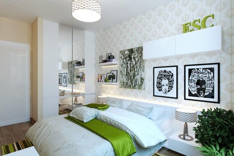 cuadros pared dormitorio moderno papel pared ideas