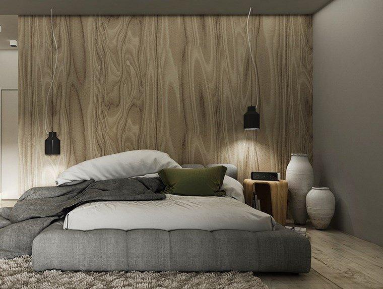 cuadros pared dormitorio moderno pared madera ideas